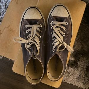 Navy blue low rise converse